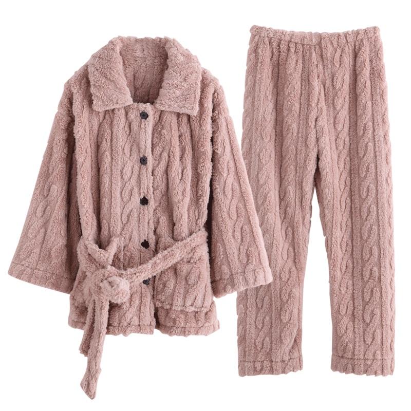 秋冬季珊瑚绒家居服套装