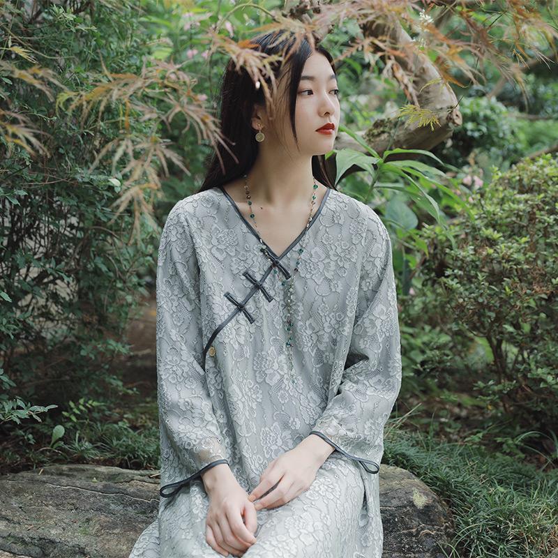 茉莉和扶苏 复古国风改良旗袍连衣裙