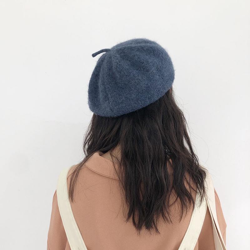 英伦复古 毛线八角帽