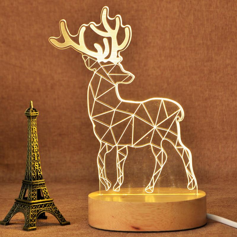 3D立体小台灯