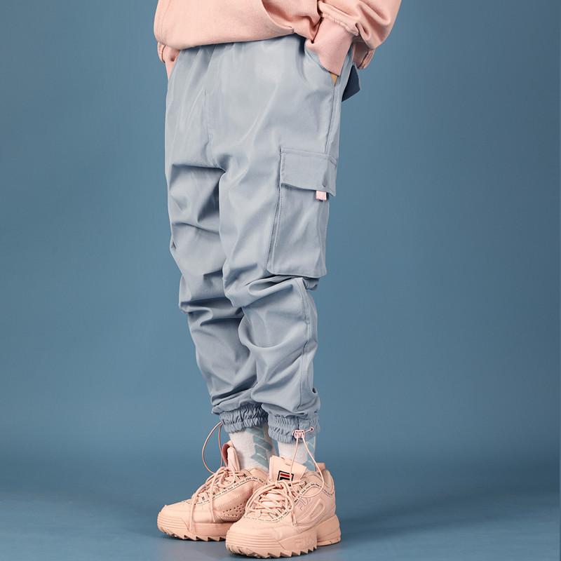 工装帅气束脚裤