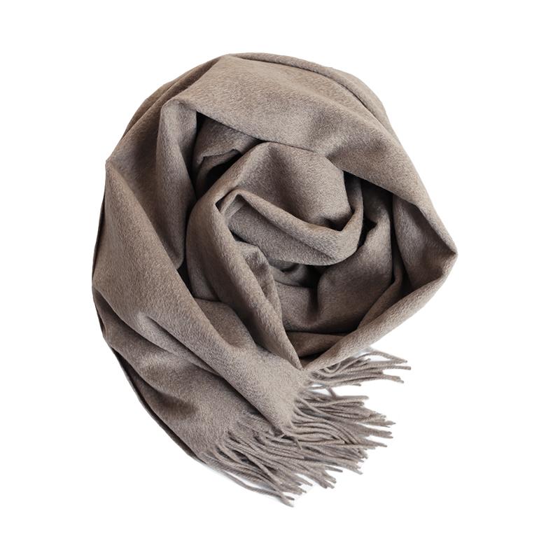 阿尔巴斯山羊绒水波纹围巾