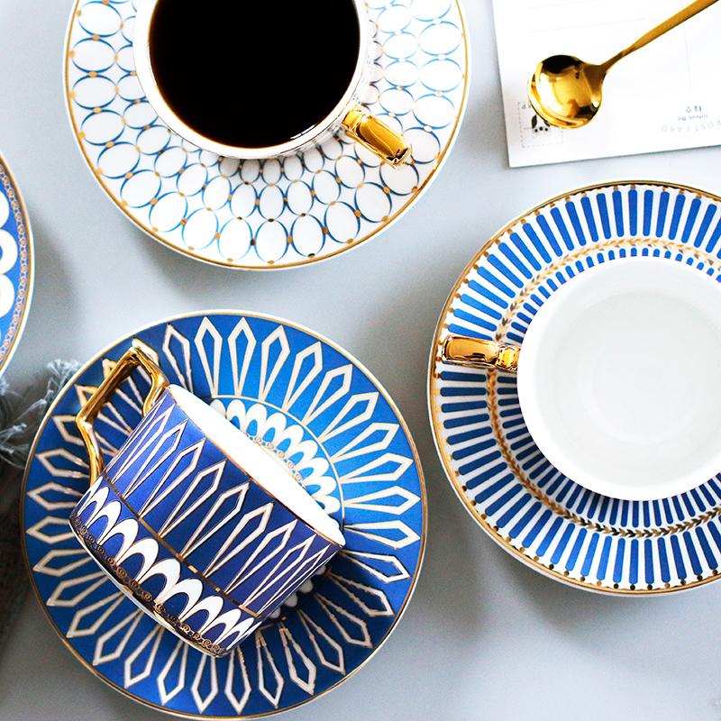 英式轻奢陶瓷咖啡杯碟套装
