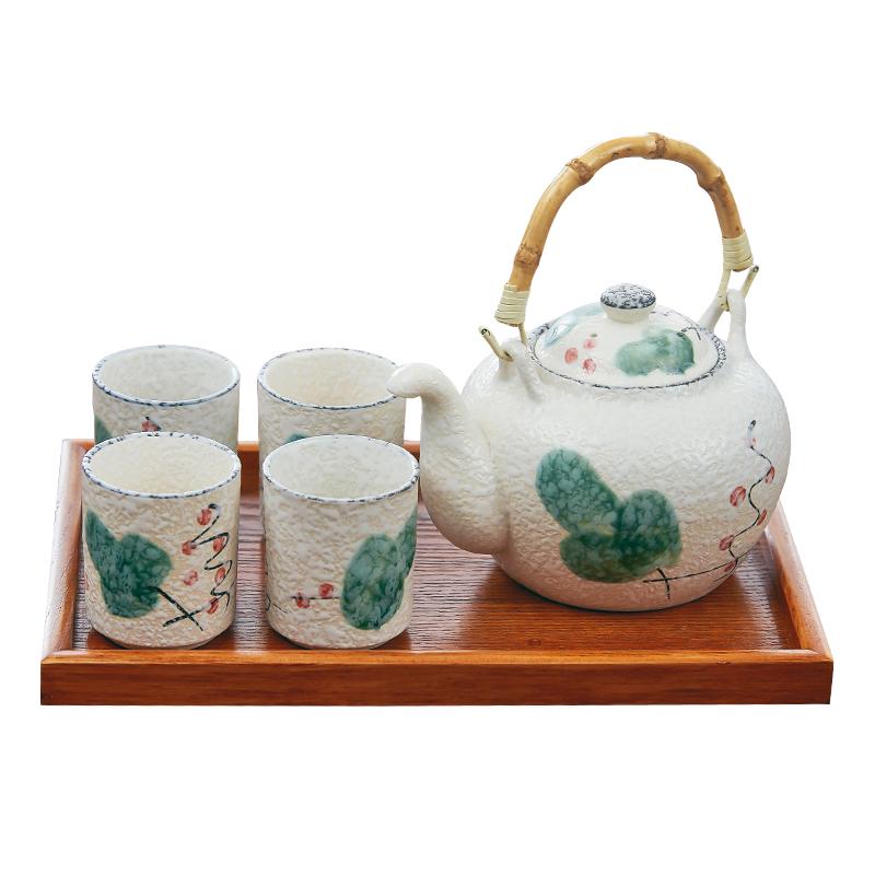 日式和风 手绘釉下彩茶具套装