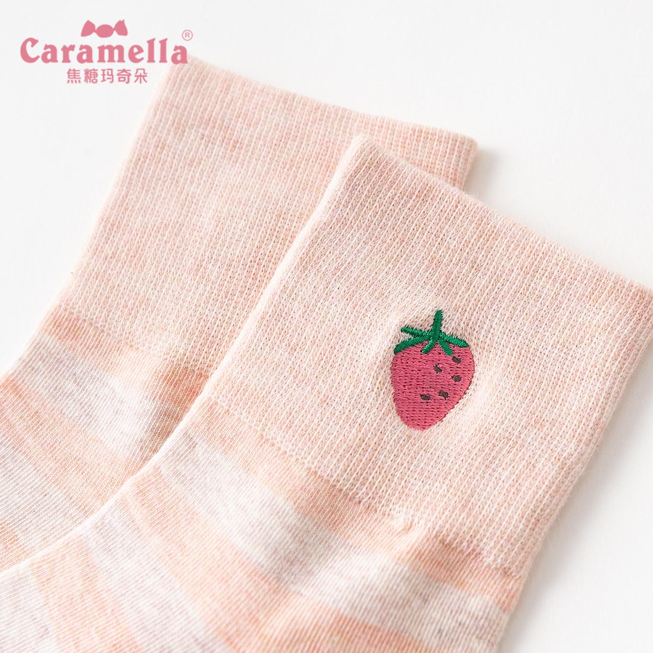 CARAMELLA小草莓中筒袜