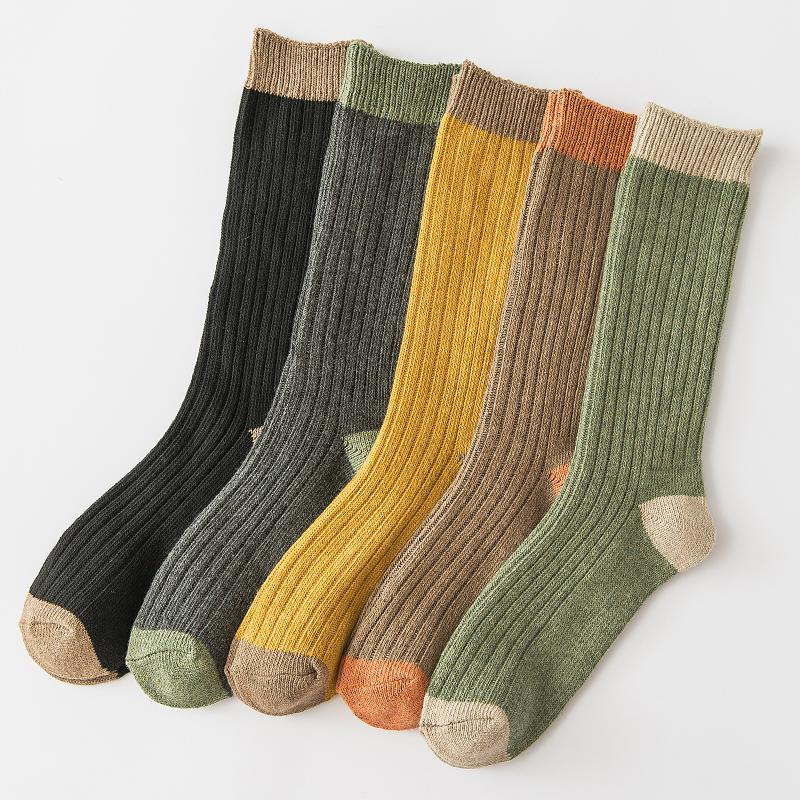 日系复古色堆堆袜