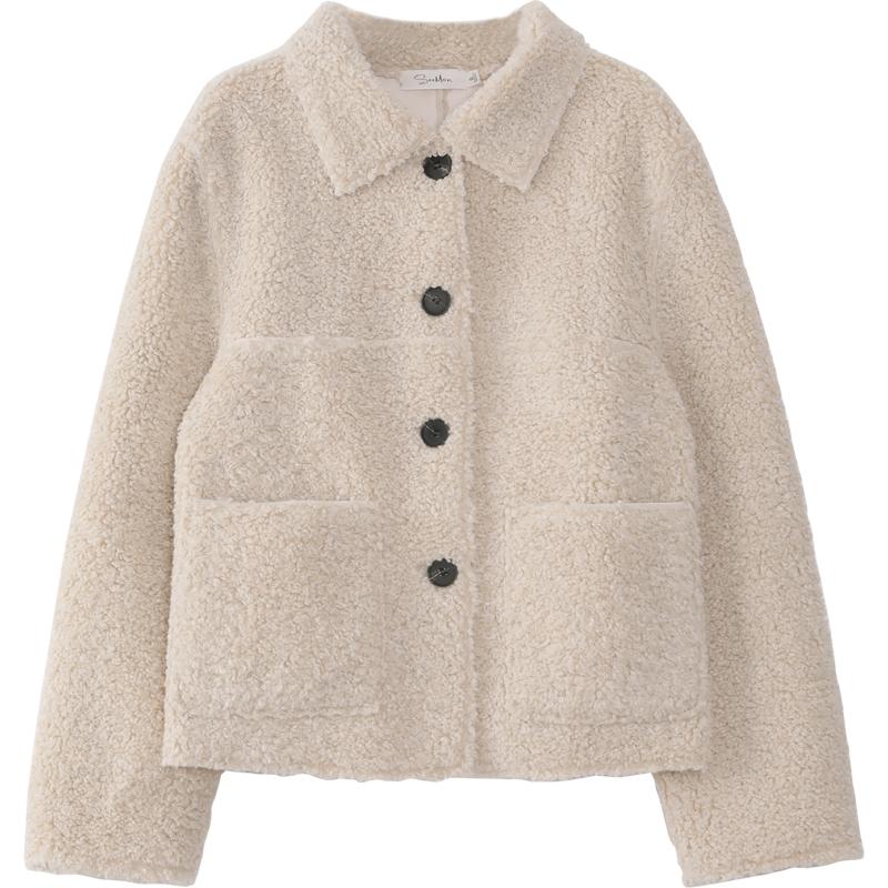 夕蒙◆短款羊羔毛绒外套