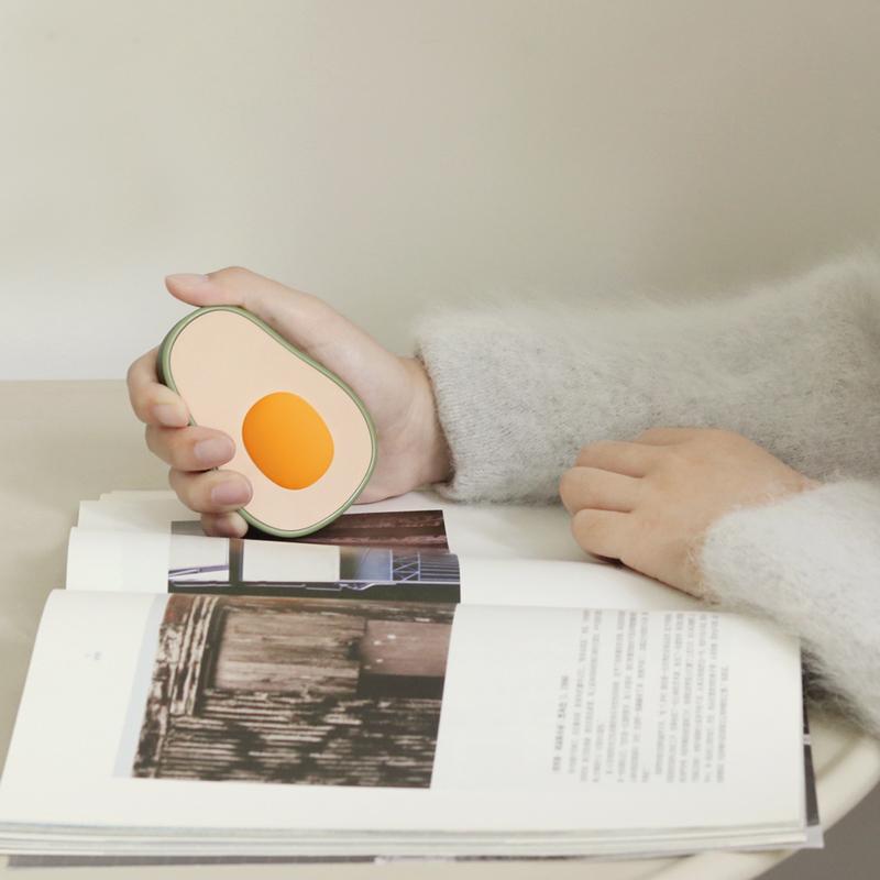 网红牛油果充电暖手宝