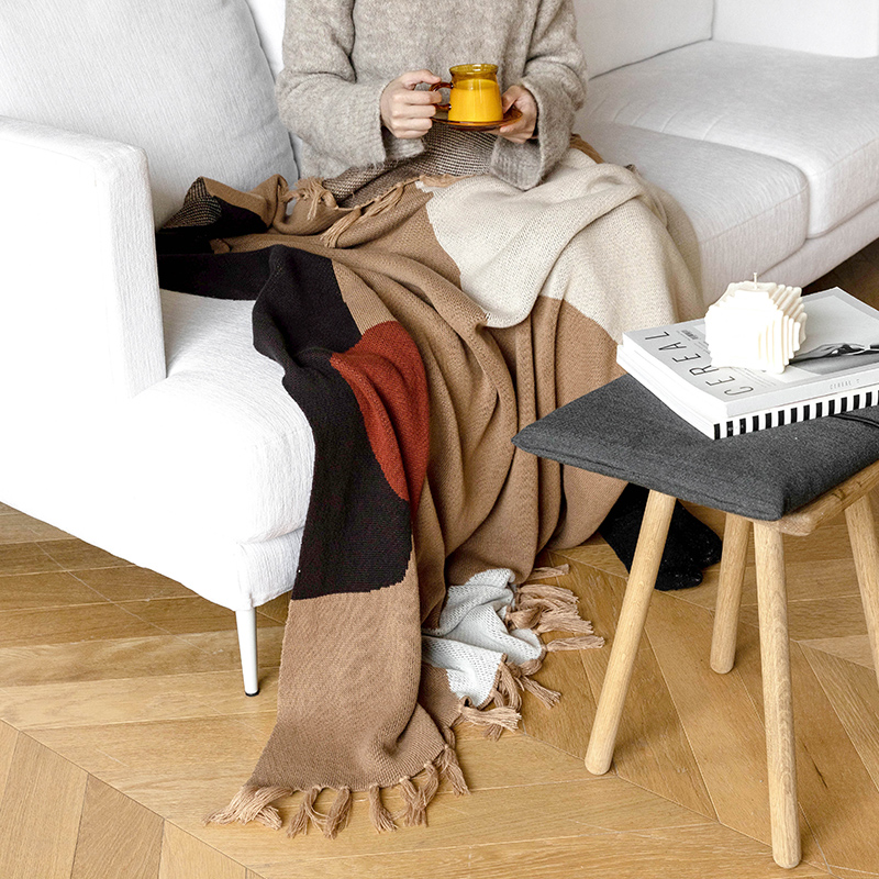 Moreover针织沙发毯