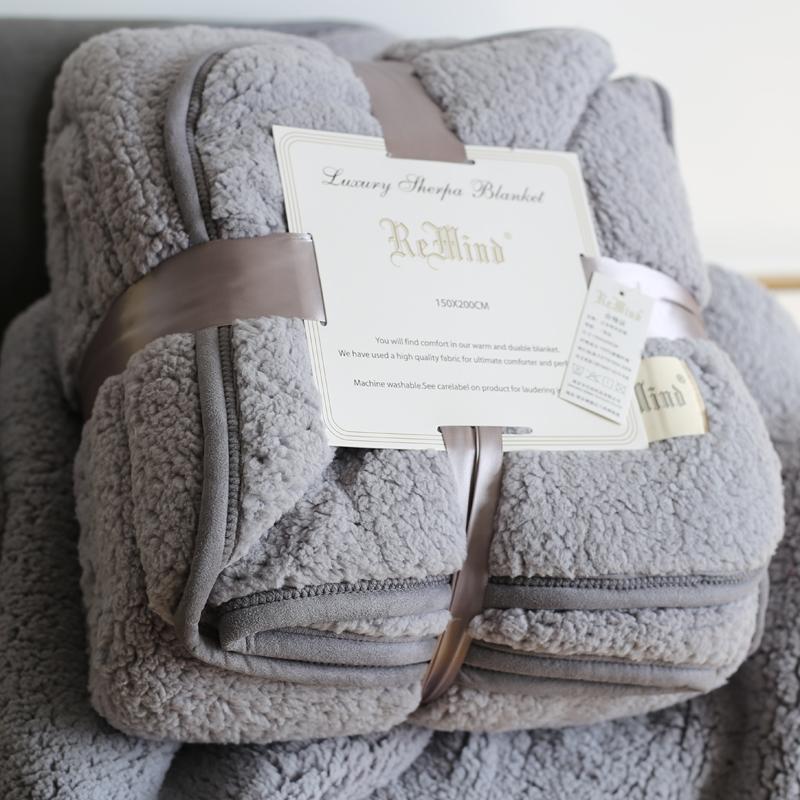加厚羊羔绒双面毯子