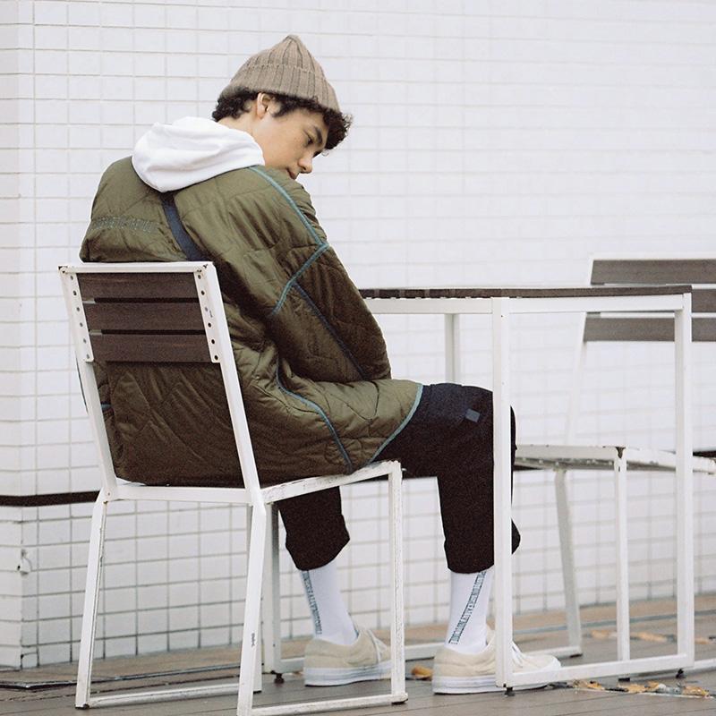 NOTHOMME日系菱格棉服