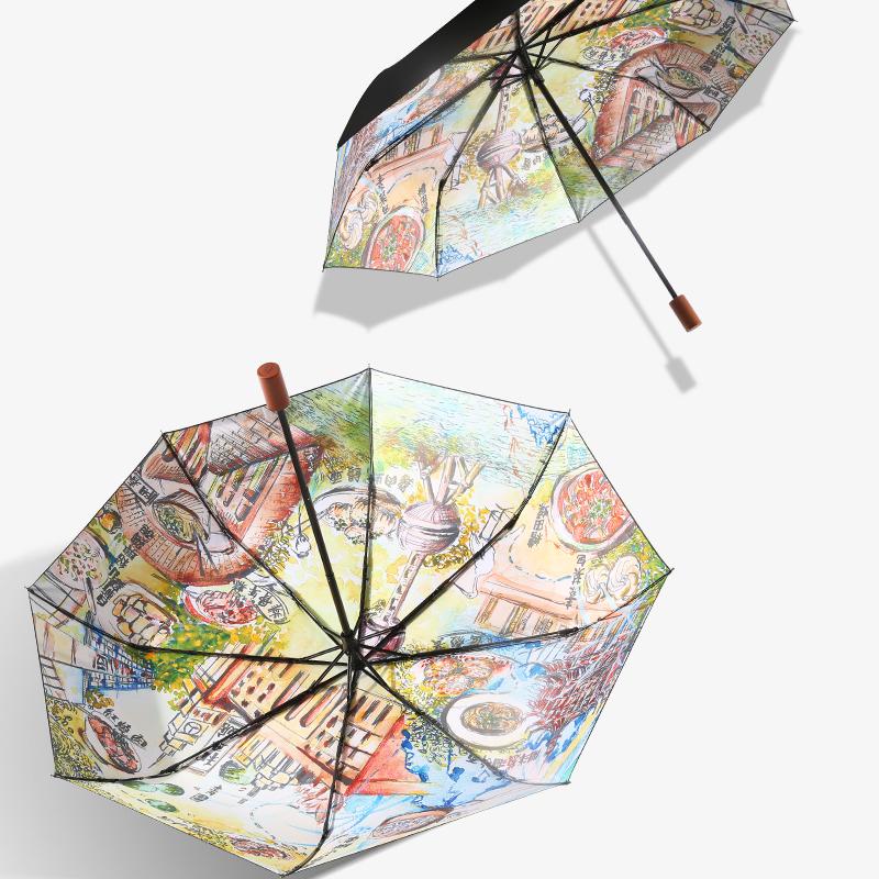 MISSRAIN城市印象防晒雨伞