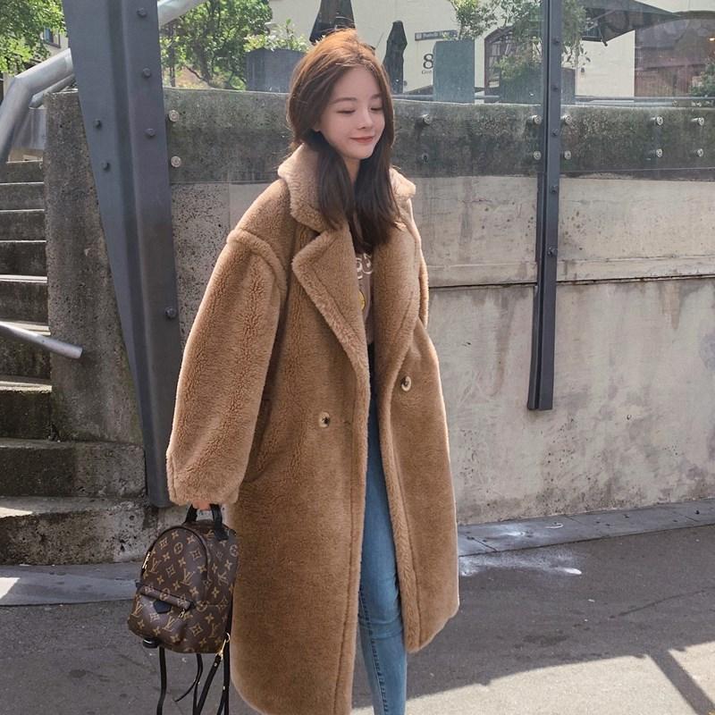 钱夫人◆长款羊羔毛外套