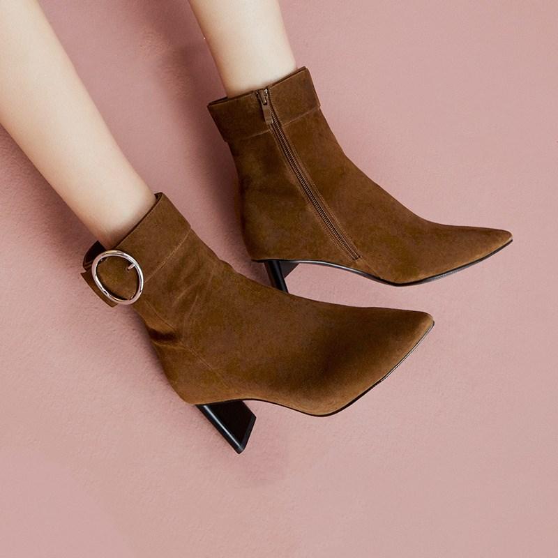 Toomanyshoes◆尖头气质短靴