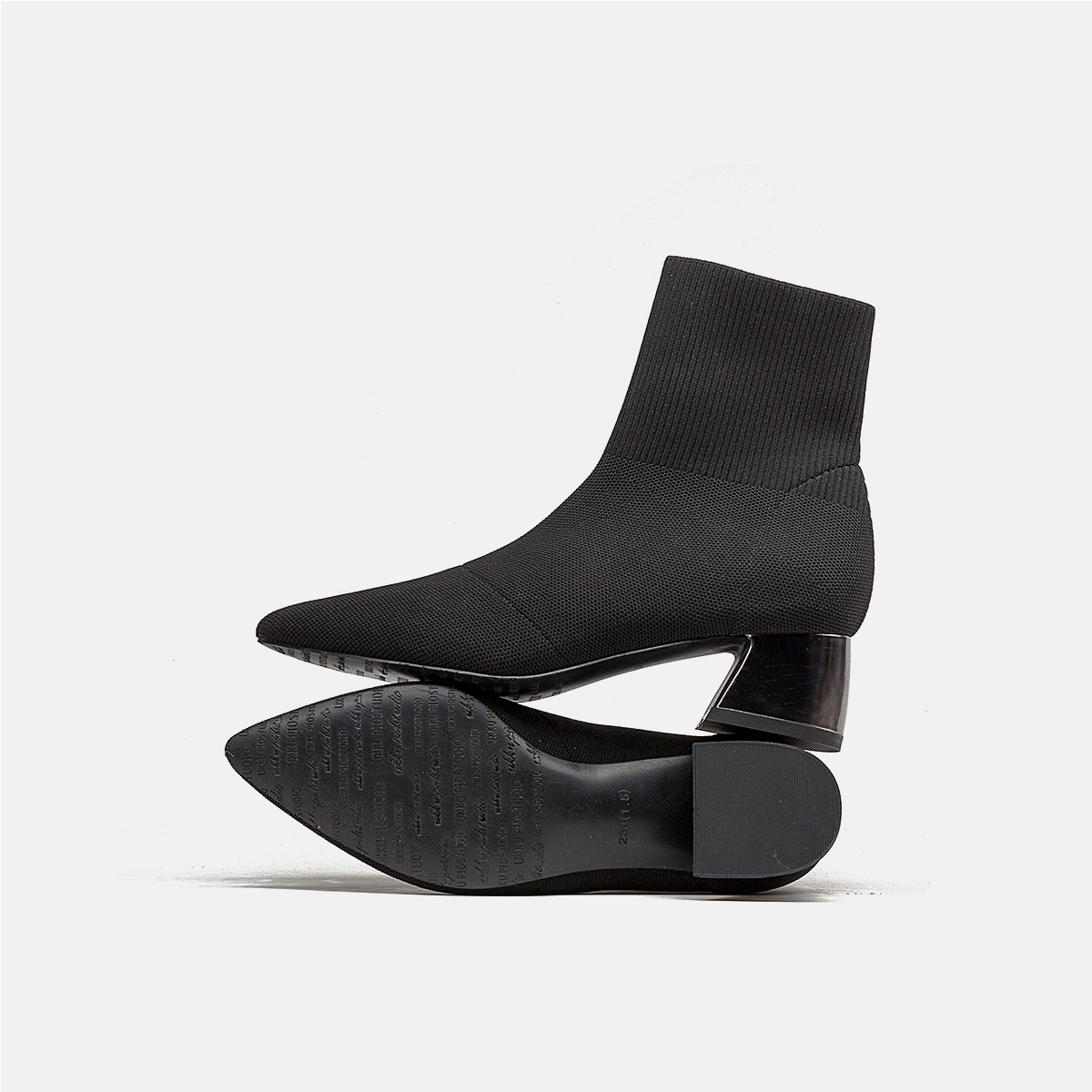UKKU STUDIO◆尖头中跟袜靴