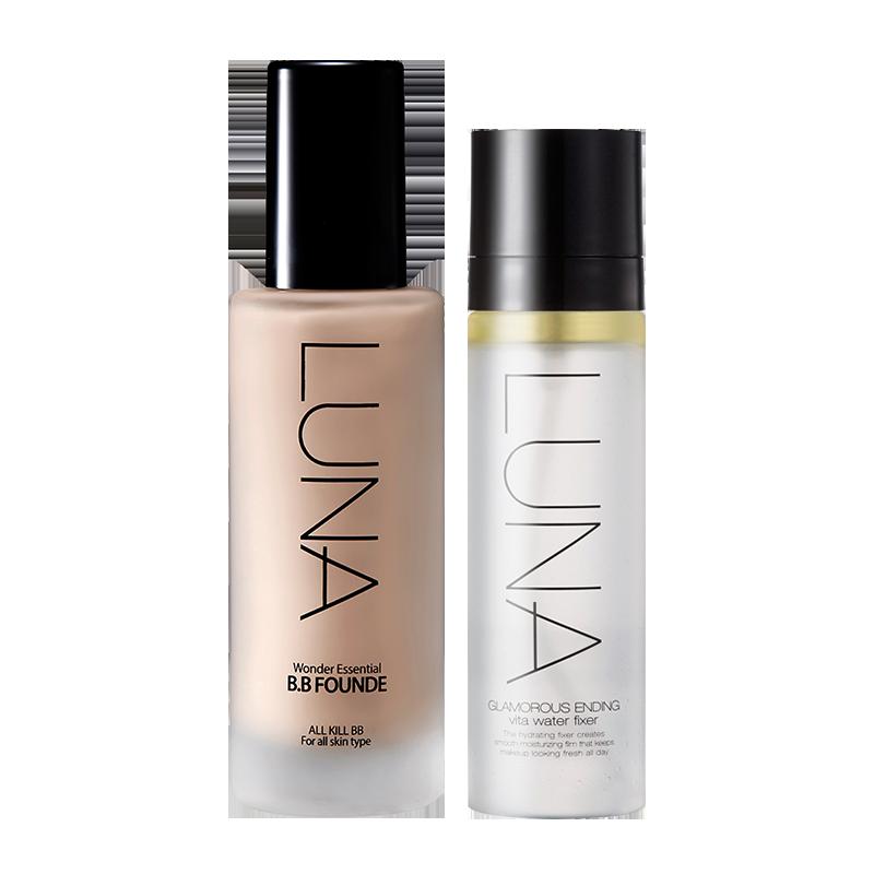 LUNA滋润精华粉底液+定妆喷雾套装