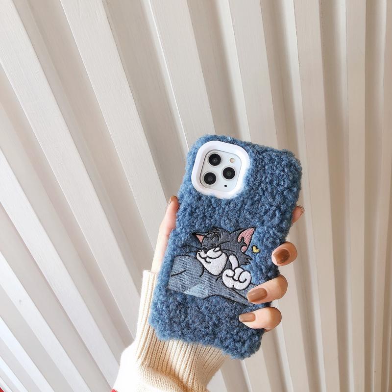 毛绒刺绣Tom&Jerry手机壳