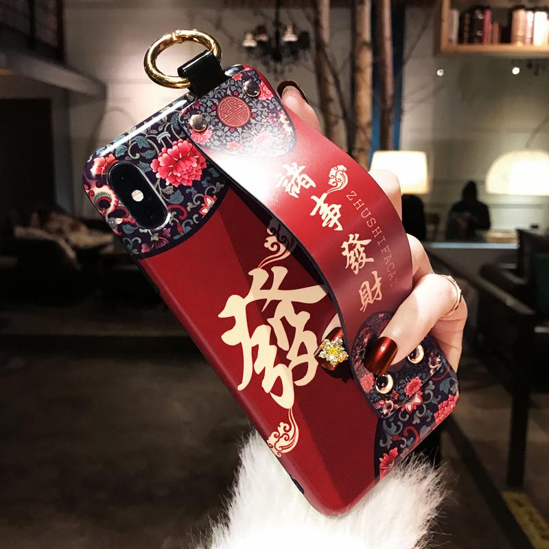 中国风复古腕带手机壳