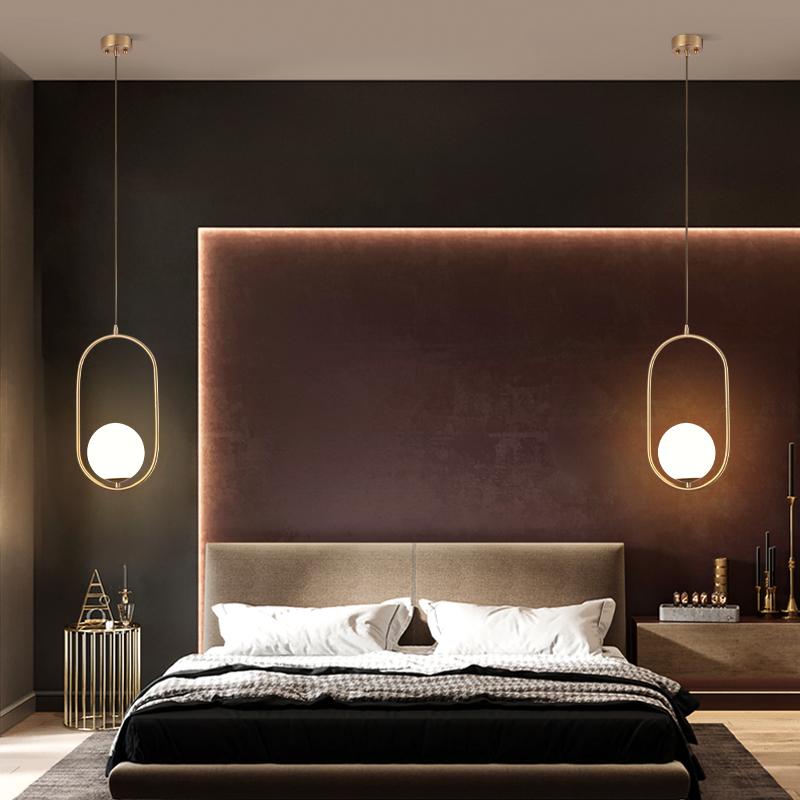 全铜床头吊灯