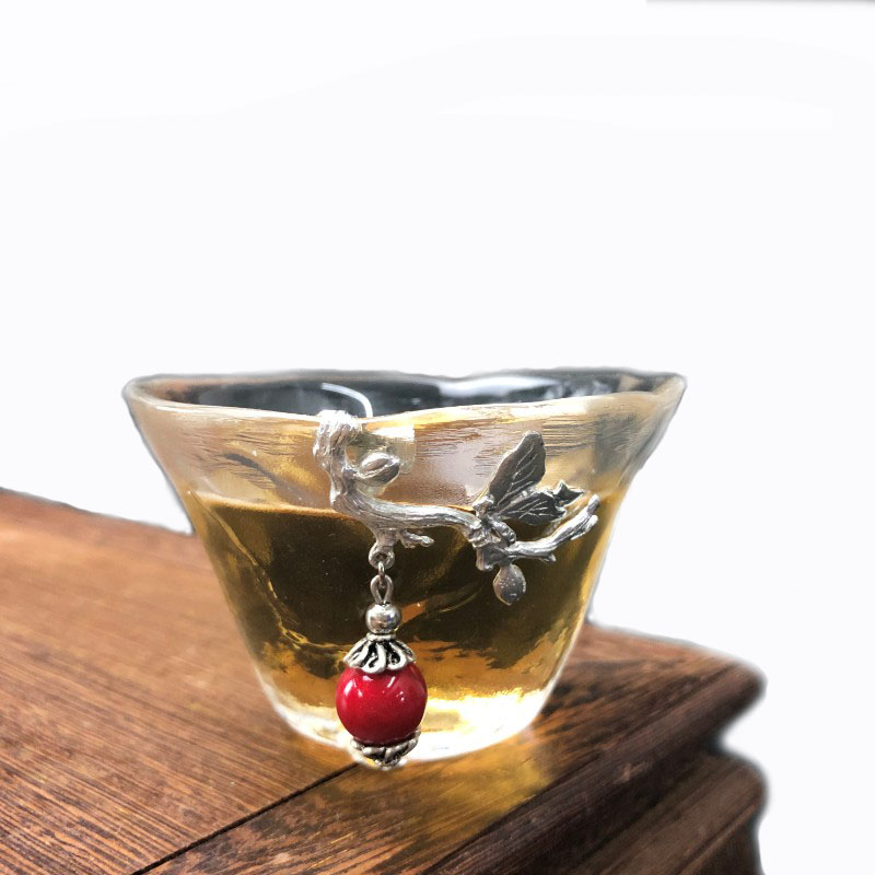 立体雕花品茗杯