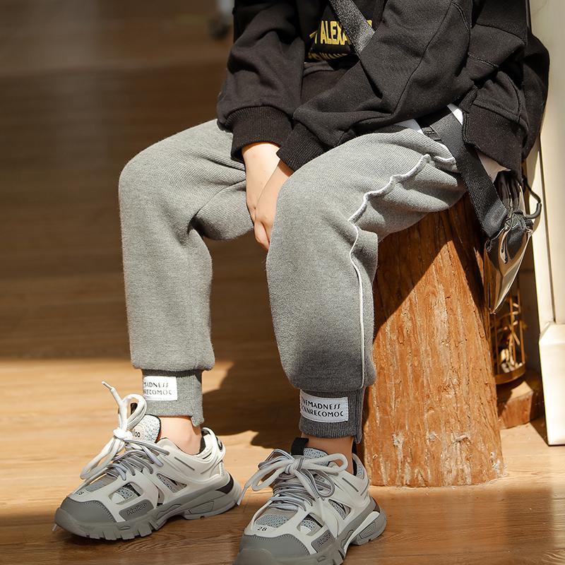 加绒纯棉运动裤