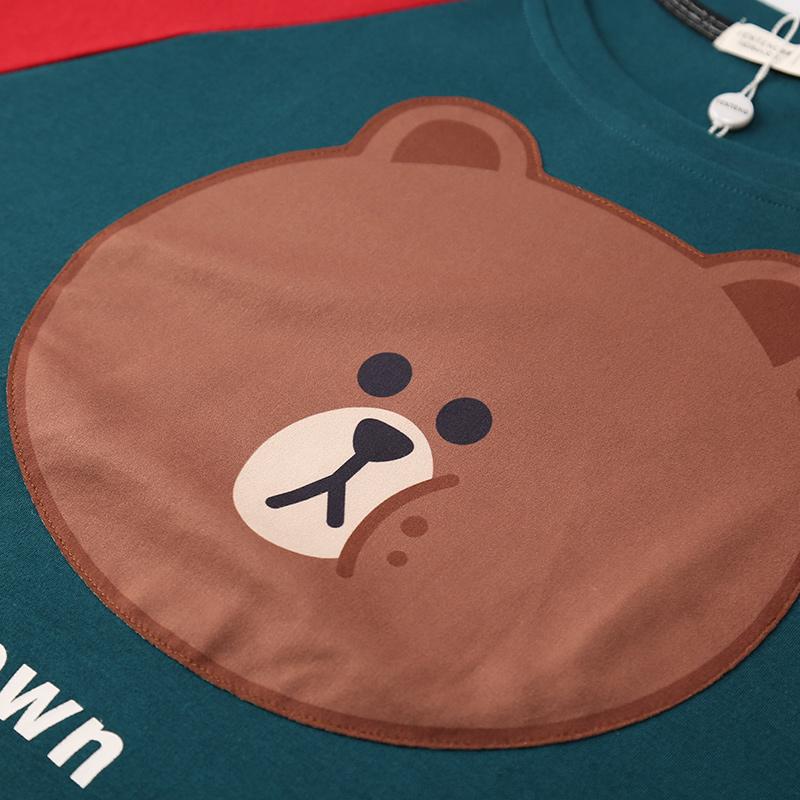 卡通布朗熊纯棉睡衣
