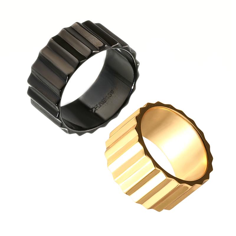 ZHAO曌情侣齿轮戒指
