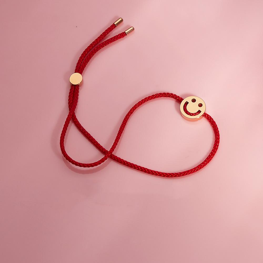 RUIFIER 笑脸红绳手链
