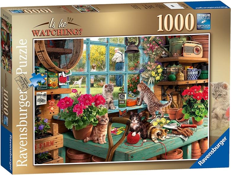 Ravensburger 好奇的猫成人拼图 1000片